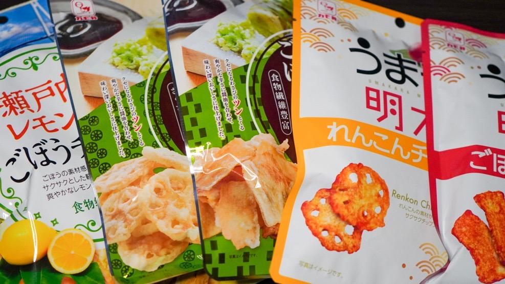 カモ井チップス食べ比べ