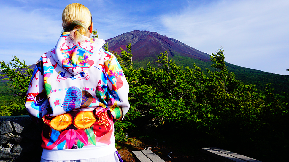富士山とパーカー